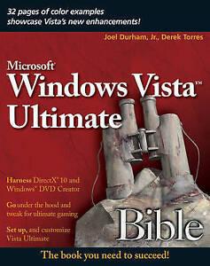 Very-Good-Windows-Vista-Ultimate-Bible-Paperback-Torres-Derek-Durham-Jr-J