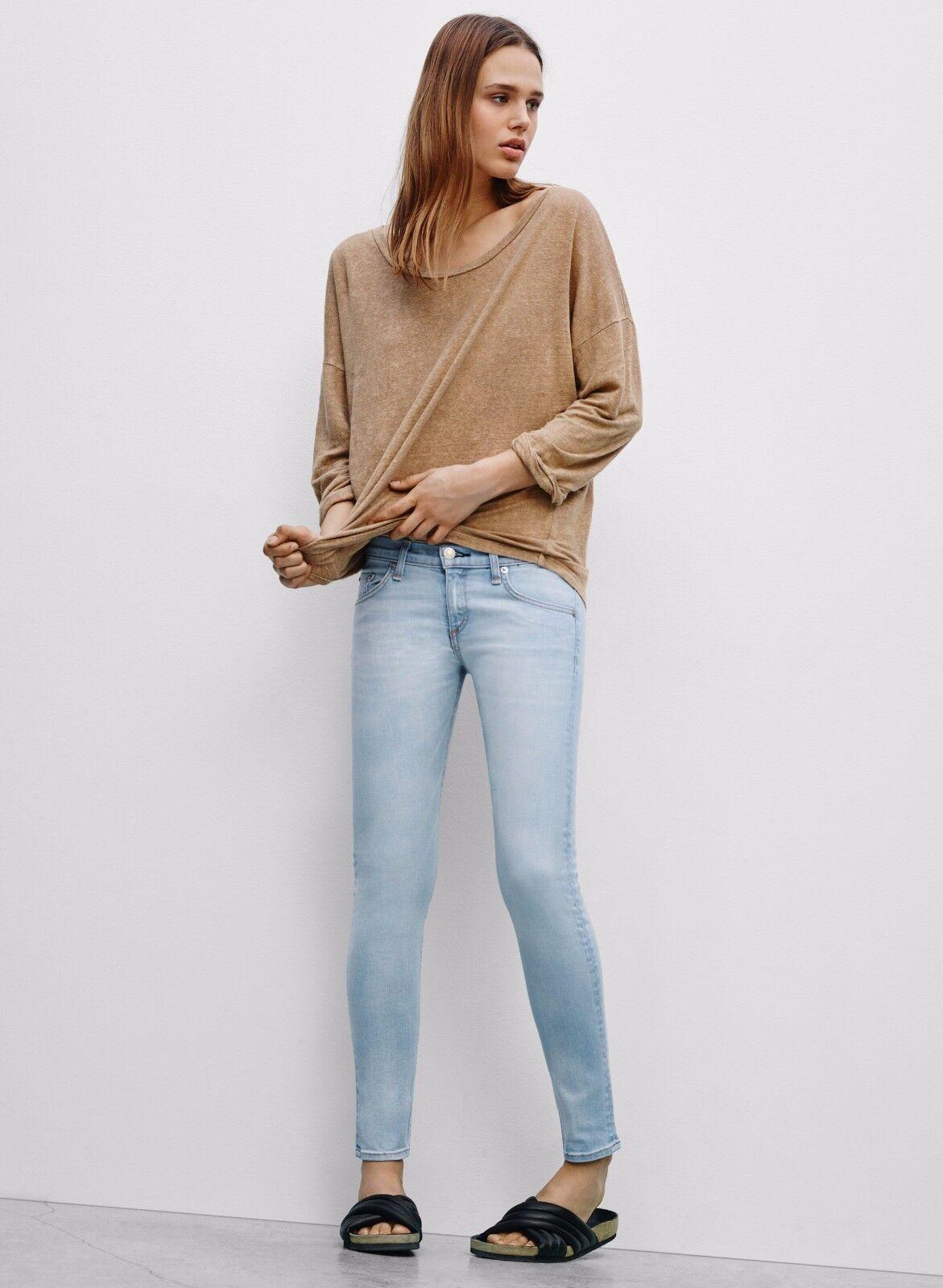 Rag & Bone jean, capri, skinny, brighton, light bluee, cotton poly, s. 28