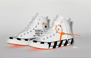 Details about 100%AuthenticBrand NEW OFF WHITE x Converse Chuck Taylor All Star 70 Hi Sz 9.5