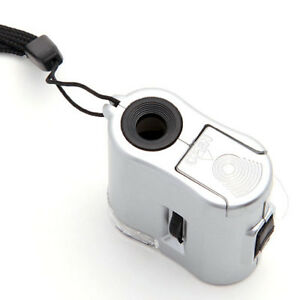 60x Magnifier Magnifying Microscope with LED Light Lamp / UV Light