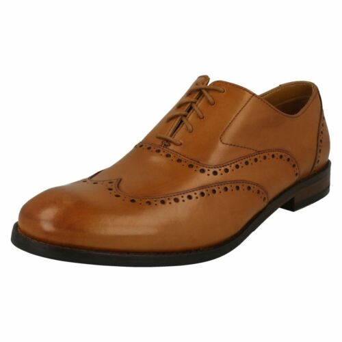 Hombre Adornos Piel Elegante Edward Brogue Zapatos Con Andar Clarks Cordones qCqwtFr