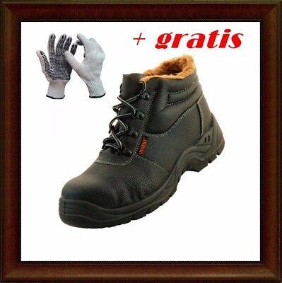 Arbeitsschuhe Sicherheitsschuhe Stiefel Leder+Fell S3 Stahlkappe Gr.44 PS016