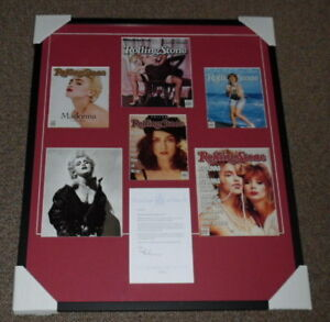 Madonna-Signed-Framed-27x33-Letter-amp-Rolling-Stone-Cover-Display-JSA