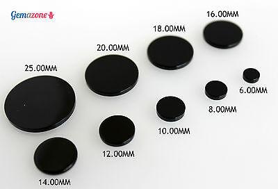 Black Onyx Round Flat 8.0 mm Disc   1 Piece