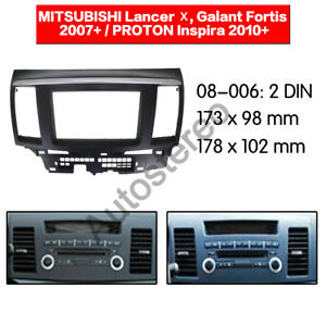 Mitsubishi-Lancer-car-stereo-radio-Double-2-Din-fascia-dash-panel-facia-kit-trim