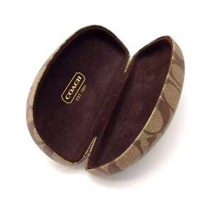 Coach-Original-Sunglasses-Eyewear-Case-Brown-Monogram-Hard-Case-Size-S