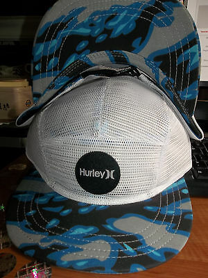 Hurley The One and Only Cali Camper White Mesh Hat Cap Lid Flat Bill Brim Surf H
