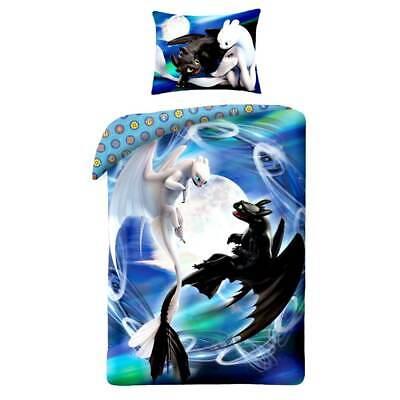 Dragons Wende-Bettwäsche-Set Baumwolle Bettbezug Kinderbettwäsche Drachen Bezug