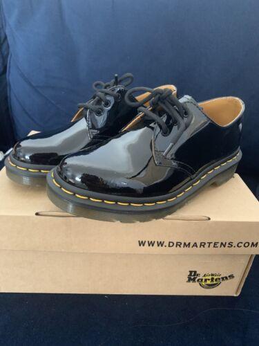 Dr Martens 1461 Black Patent 3 Eyelet Lamper Shoe 3 36 (New)