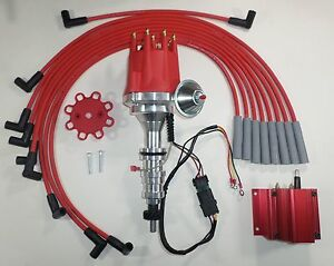 Small Cap FORD FE 352   390   427428 RED HEI Distributor  Coil      Spark       Plug       Wires      eBay