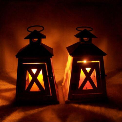 Rustic Wooden Candle Holders Hanging Lamp Retro Lantern Decoration Table Vintage