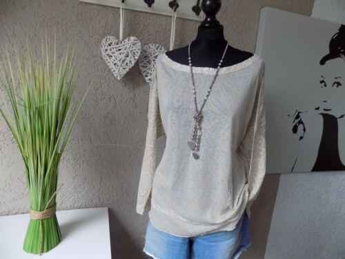 44 46 XL NEU Pailletten Heine Fledermaus Shirt Gr 572