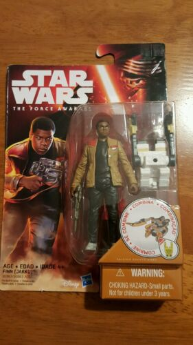"JAKKU 2015 Star Wars /""The Force Awakens/"" 3.75/"" FINN Disney  NEW Hasbro"
