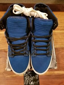 33692a5756f0 Image is loading Supra-Skytop-Chad-Muska-Blue-Bengals-Rare-DS-