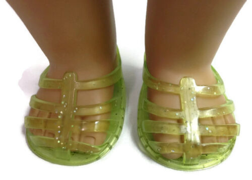 "Green Jelly Shoes made for 18/"" American Girl Doll Clothes"
