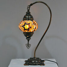 Mosaic Camel Neck, Turkish Table Lamp Medium Brown Starburst DB2-BRS