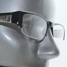 Bold Boss Chunky Black Top Frame Invisible Lens Reading Glasses +1.75 Strength