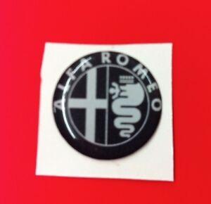 1 Adesivo Resinato Sticker 3D Alfa Romeo 50 mm black old