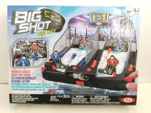 Ideal Motorized Big Shot Shoot Out Hockey Tabletop Game Ages 5 and Up
