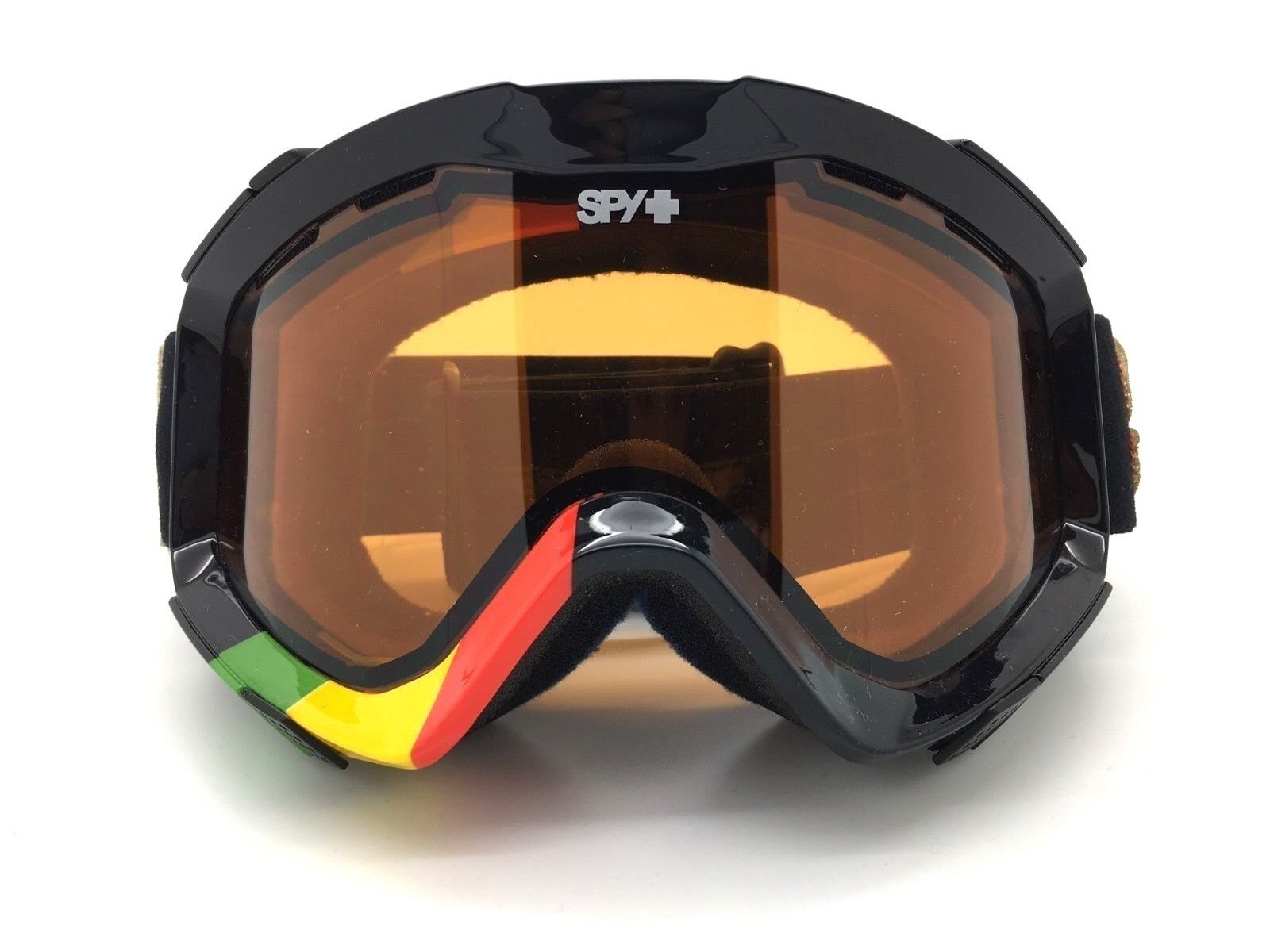 SPY+ Optic ZED Snow Goggle LION Red Yellow Green Frame with Persimmon Lens