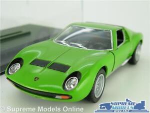 Lamborghini Miura P400 Model Car 1971 1 34 Scale Green Display