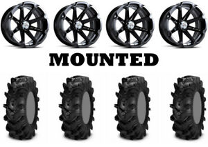 Kit-4-ITP-Cryptid-Tires-28x10-14-on-MSA-M12-Diesel-Black-Wheels-CAN