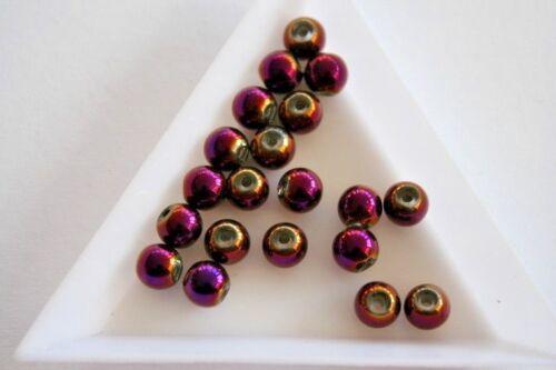 6 mm Crystaline púrpura Redonda Cuentas de Vidrio 80 granos #4012