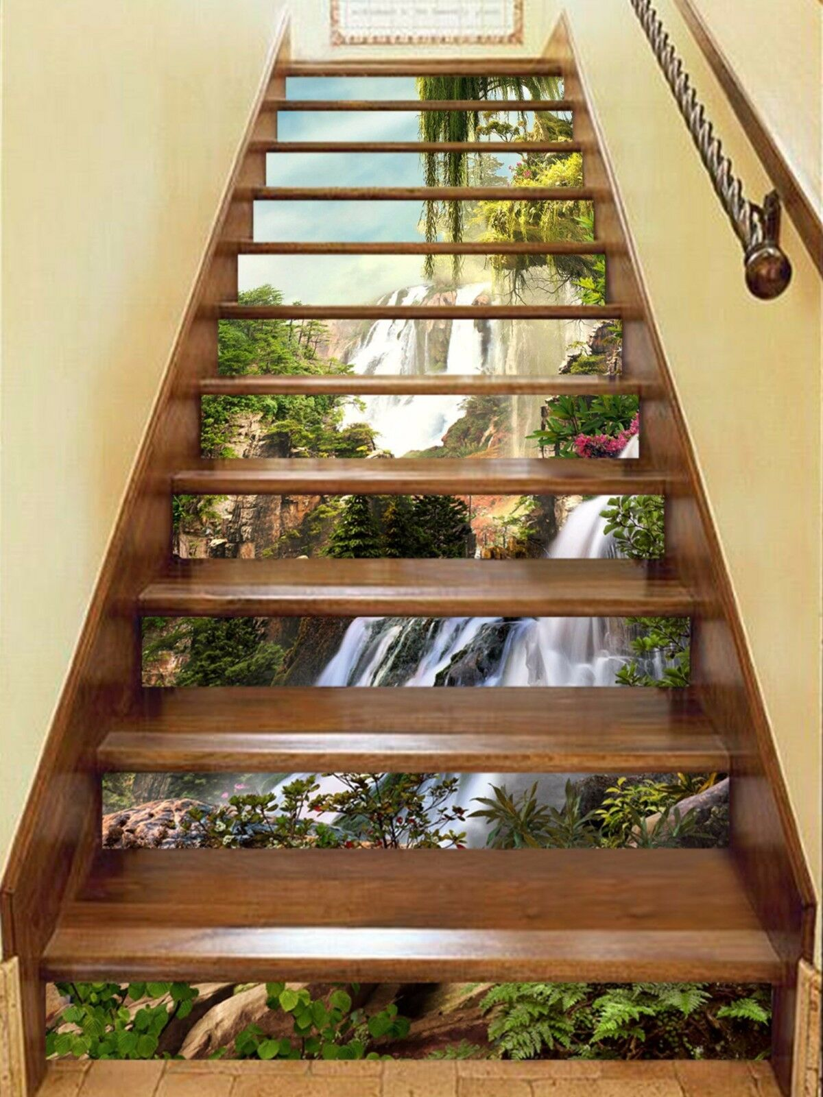 3D Mountain 735 Stair Risers Decoration Photo Mural Vinyl Decal Wallpaper AU