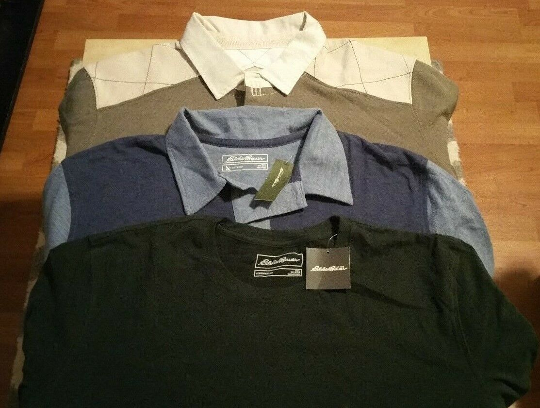 Lotof 3  Eddie Bauer Mens Long and Short Sleeve Shirt Size 2XL