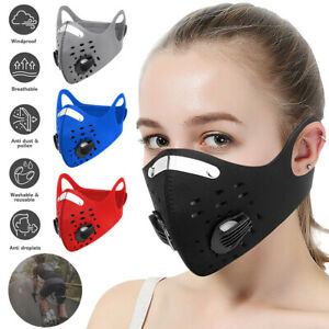 Washable Reusable Carbon Face Mask Activated With Respirator Face Filter PM 2.5