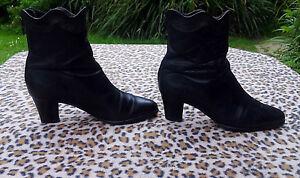 4b7c91144aaf Vintage Van Dal Black Leather Ankle Boots Uk size 4.5 EU 37.5