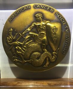 Large-Medal-St-Michael-amp-Dragon-American-Cancer-Society-Award-Art-Deco-3