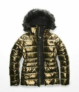 NWT-THE-NORTH-FACE-WOMEN-039-S-GOTHAM-II-HOODED-PARKA-SIZE-M-230-METALLIC-COPPER