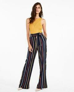 707956c6ffb5 nwt EXPRESS high waisted sash nautical wide leg trouser pants 2 reg ...
