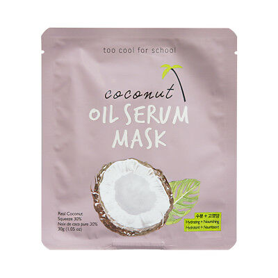[TOO COOL FOR SCHOOL] Coconut Oil Serum Mask - 2pcs