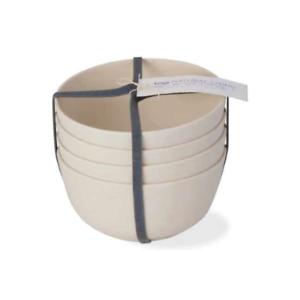Botanica Bamboo Fiber Bowl Set Set of 4 Natural