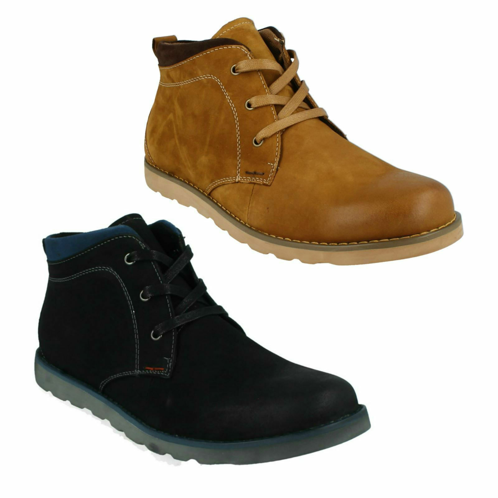THOMAS BLUNT A3R056  Herren SMART LEATHER LACE UP CASUAL DESERT ANKLE Stiefel Schuhe