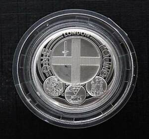 Royal-Mint-2013-London-Piedfort-1-One-Pound-Silver-Proof-Coin-Box-COA