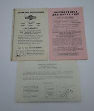 Vtg Briggs Amp Stratton Operating Instructions Parts List 60500 80500 80900 61500