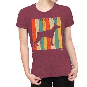 Colourful Retro T-Shirt 1Tee Womens Chihuahua Dog Breed