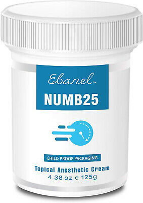 Numb25 Lidocaine 5% Topical Numbing Cream, Max Strength 4 ...