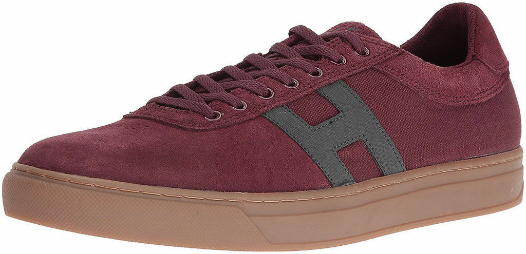 HUF SOTO Oxblood  Grey Sneaker CP64005 Men's Size  8 NEW  Ships Free