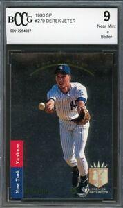 1993-SP-279-Derek-Jeter-Rookie-Card-BGS-BCCG-9-Near-Mint
