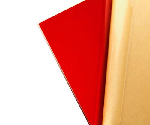 "Red Transparent Acrylic Plexiglass sheet 1//8/"" x 5.5/"" x 5.5/"" #2423"