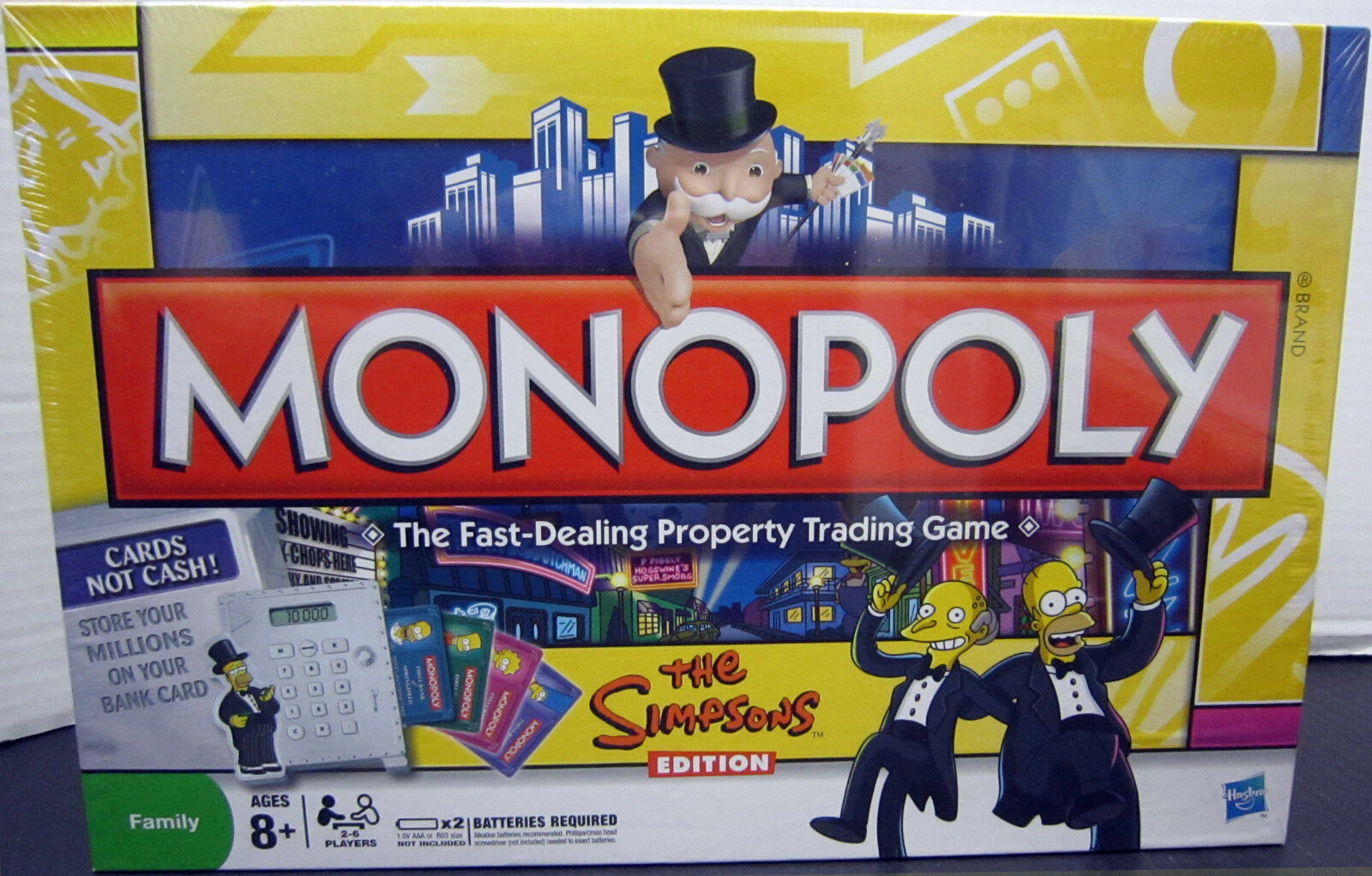 Monopoly The Simpsons Electronic  Edition New & Factory Sealed