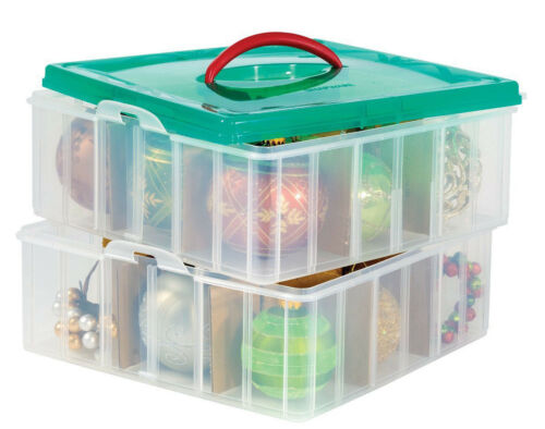 Snapware Snap /'N Stack Square 2-Tier Seasonal Ornament Storage Container