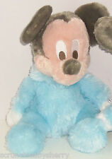 Disney Mickey Mouse Plush Toy Rattle Blue Baby Soft Theme Parks New