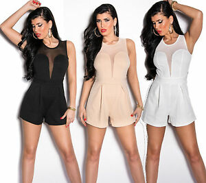 SEXY-MONO-CORTO-JUMPSUIT-CATSUIT-MONO-SHORT-Clubbing-SHORT-CON-Red-Party-Traje