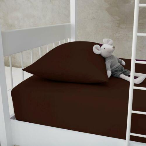 BUNK BED SIZE Non Iron Easy Care SMALL DOUBLE 4FT Fitted Bed Sheet Poly Cotton