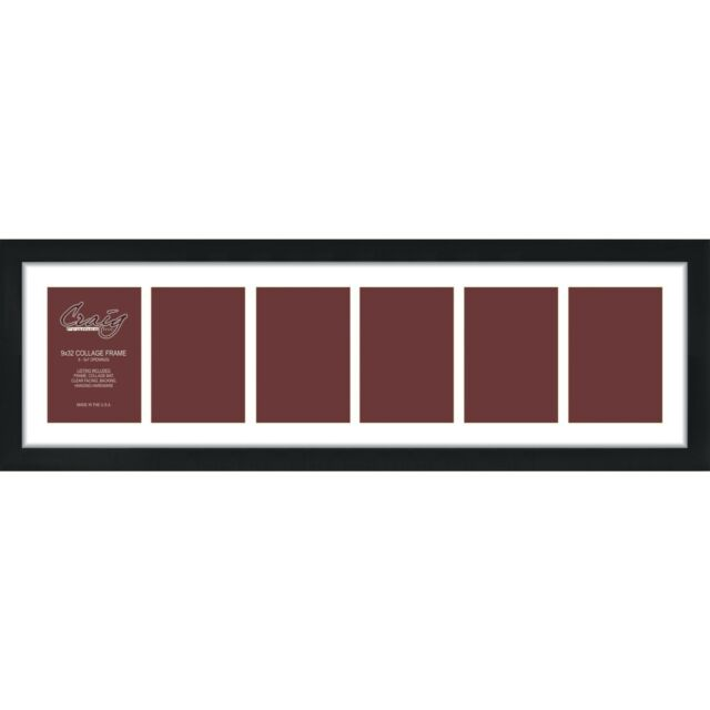 Craig Frames 9x32-inch Black Picture Frame Single White Collage Mat ...